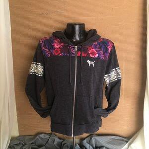 Tops - PINK Victoria secret bling zip hoodie